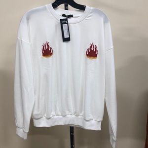 Nasty Gal Flamed Boob Sweater